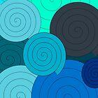 Blue spirals by RosiLorz