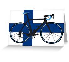 Bike Flag Finland (Big - Highlight) Greeting Card