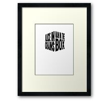 Man In The Box Framed Print