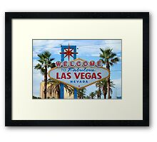 Welcome to Fabulous Las Vegas! Framed Print