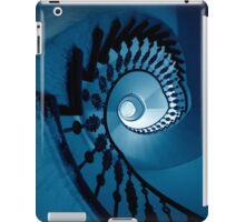 Spirals in blue tones iPad Case/Skin