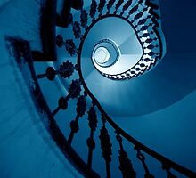 Spirals in blue tones by JBlaminsky