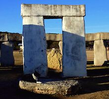 Sundown at Texas Stonehenge  by Charmiene Maxwell-batten