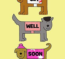 Get well soon dogs in hats and coats. by KateTaylor