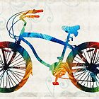 Colorful Bike Art - Free Spirit - By Sharon Cummings by Sharon Cummings