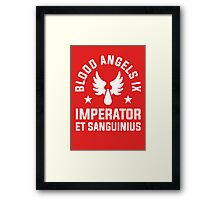 Blood Angels IX - Warhammer Framed Print
