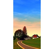 Country road and morning glory   landscape photography Photographic Print