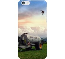 Farmer's pride and a swallow   conceptual photography iPhone Case/Skin