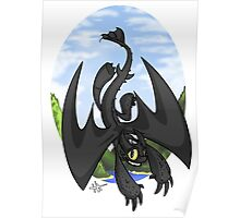 Afternoon Flight - Toothless Poster