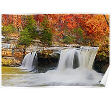 Colorful Cataract Falls Poster