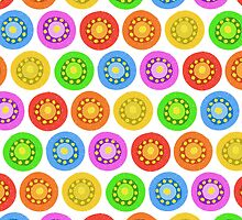 Funny Colorful Abstract Flower Pattern by amovitania