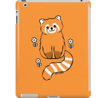 Red Panda with White Flowers iPad Case/Skin