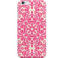 Hot Pink & Soft Cream Folk Art Pattern iPhone Case/Skin