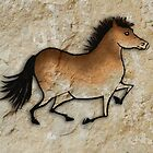 Cave Art Horse - Cheval No.1 by Jan Szymczuk
