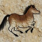 Cave Art Horse - Cheval No.5 by Jan Szymczuk