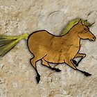 Cave Art Horse - Palemino by Jan Szymczuk