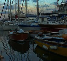 .. an evening view on the magic and beautiful little harbour at Borgo Marinara (Naples, Italy) ~ 4 by Rachel Veser