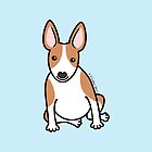 English Bull Terrier Puppy Dog ... brown & white by zoel