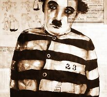 old book drawing famous charles chaplin by #Palluch #Art