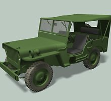 Green Willys MB Jeep by Mythos57