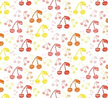 Funny Fresh Cherry Background by amovitania