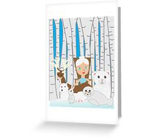 Mother Nature Winter Scene Greeting Card