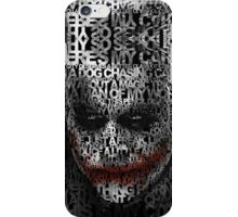 Halloween Black and white Clown typograph iPhone Case/Skin