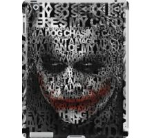 Halloween Black and white Clown typograph iPad Case/Skin