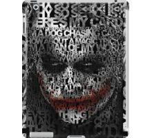 Halloween Black and white Clown typograph iPad Case/Skin