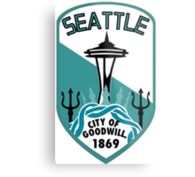 Rep Your City: Seattle Metal Print