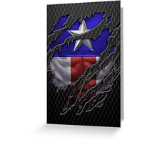 Star and stripes chest ripped torn tee Greeting Card