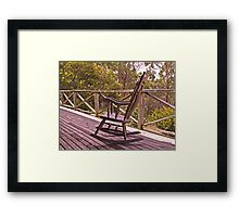 Home Among the Gumtrees and An Old Rocking Chair Framed Print