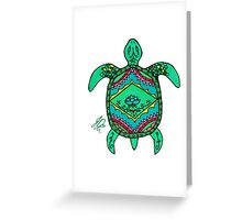 Turtle in Sharpie Greeting Card