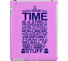 DOCTOR WHO TYPOGRAPHY T Shirt Doc Dr BBC Tardis Time Dalek New Tenth Timey Wimey iPad Case/Skin
