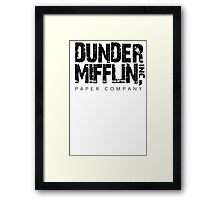 DUNDER MIFFLIN TSHIRT Funny Humor THE OFFICE TEE Paper COMPANY Dwight Humorous Framed Print