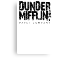 DUNDER MIFFLIN TSHIRT Funny Humor THE OFFICE TEE Paper COMPANY Dwight Humorous Canvas Print