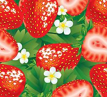 Strawberry seamless by maystra