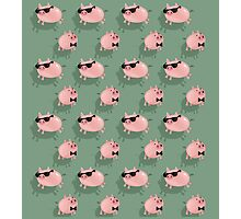 Pigs on green Photographic Print