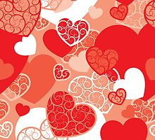 Valentine background by maystra