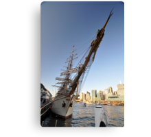 "Tall Ship ""Europa"" & Sydney Skyline, Australia 2013 Canvas Print"
