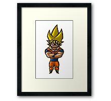 The Golden Dragon Warrior Framed Print