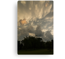 Sky Painting - Mammatus Clouds After A Storm Canvas Print