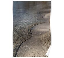 Lakeshore Tranquility - the Slowly Curling Wave Poster
