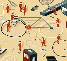 Bicycle building by Sam Brewster