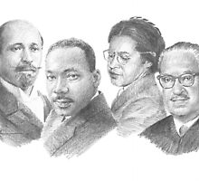 civil-rights icons drawing by Mike Theuer