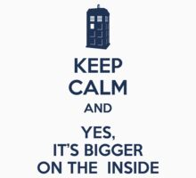 Keep calm and yes, it's bigger on the inside by latasic