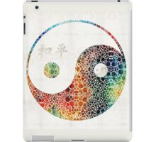 Yin And Yang - Colorful Peace - By Sharon Cummings iPad Case/Skin