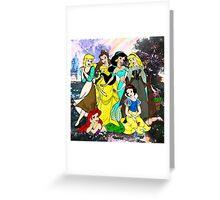 Splattered Disney Princesses Greeting Card