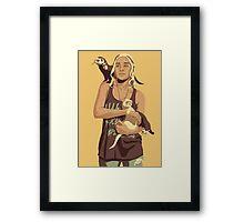 GAME OF THRONES 80/90s ERA CHARACTERS - Daenerys Targaryen Framed Print
