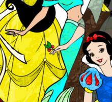 Splattered Disney Princesses Sticker